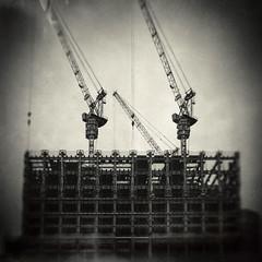 Takeshiba, Tokyo (Masahiko Kuroki (a.k.a miyabean)) Tags: bw architecture monochrome noiretblanc xe2 lensbaby trio28 tokyo 竹芝 東京