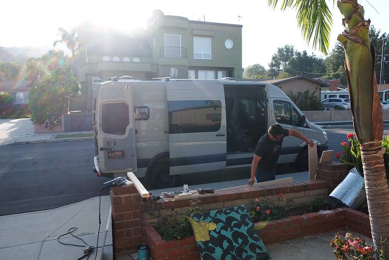 Sprinter custom camper van build day 19 and 20 042718 042818