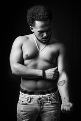 Calvin Klein or Jockey?? (brendon_curtis) Tags: low key high silhouette portraits bokeh bokehlicious studio moody dramatic calvin klein black white bw 50mm f12 l 1dxii 1dx mark ii eos canon man guy rapper hip hop musician