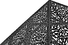 sheetmetalfacade (christikren) Tags: sheet metal facade new building krieau wien austria architecture christikren fassade grey linescurves monochrome vienna