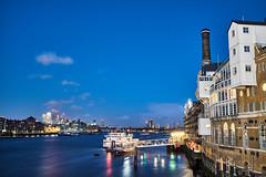 From Tower Bridge (Petr Horak) Tags: london středočeskýkraj unitedkingdom uk europe britain british britishisles greatbritain lnd city towerbridge thames river x100t bluehour