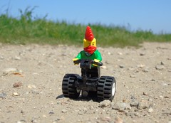 Joy of the open road (stradders06) Tags: lego minifigures segway marshes erith