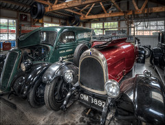 BC Garage Interior 2 (Darwinsgift) Tags: black country living museum dudley birmingham transport nikkor 19mm f4 pc e nikon d850 tilt shift hdr photomatix