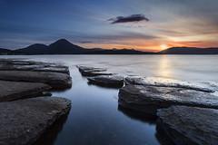 Lonely as a Cloud (EXPLORE) (SkyeWeasel) Tags: scotland skye broadfordbay broadford sunset mountains beinnnacaillich longexposure bay landscape seascape