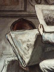 DAUMIER Honoré - Les Amateurs d'Estampes (Louvre RF4036) - Detail 51 (L'art au présent) Tags: art painter peintre details détail détails detalles watercolor aquarelle figure personnes people personnages man men male 19e19thcentury paintingstampprint drawing dessins dessin disegno disegni drawings collector atelier studio artist peintures19e 19thcenturypainting stamp print tribute hommage raffet