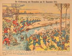 Die Erst청ung von Dixmuiden am 10. November 1914 - Bilderbogen Nr. 10027 (Micky Hennemann) Tags: bilderbogen ersterweltkrieg fluss kriegssammlung militr schlacht soldat