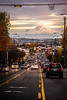 Way up (++ Martin ++) Tags: mount rainier seattle washington state usa united states westcoast westküste mountain berg strase street cars sunset light clouds wolken sonnenuntergang licht traffic verkehr ampel power line hochspannungsleitung kabel city stadt autumn fall herbst national park volcano caskade range volcanic arc pacific northwest canon efs 1785mm f456 is usm