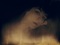 Creepin' (Bill Eiffert) Tags: creep fire desire woman eyes painterly flame