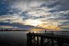 dawn delight (cheezepleaze) Tags: sea wharf jetty ocean clouds sunrise dawn fishing coast portelliot southaustralia