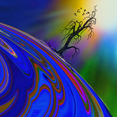 """A Beautiful Twist"" (donnacoburn1) Tags: colourful drawing image safe public metabrush procreate nature surreal donnacoburn apps apple ipadpro colours painting create imagination artworks digitalart mobileart creative art"