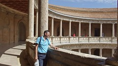DSCF5565 Palacio de Carlos V, Alhambra, Granada (Thomas The Baguette) Tags: granada spain granadaspain espagne espana alhambra nesrid nesridpalace patiodelosleones lionfountain comares moorish fountains architecture gardens machuca alcazaba