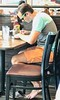 Man in deli (LarryJay99 ) Tags: resturant eatery cafe people legs barefuss toes headtotoe arms back hairy hairyman profile handsome attractive hotdude bulge bulges bulging men male man guy guys dude dudes manly virile studly stud masculine sexyman hairylegs