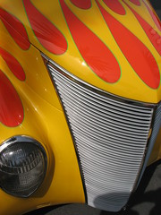 Reentry (skipmoore) Tags: goodguys carshow flames hood grille