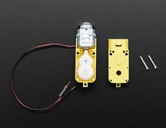 "DC Gearbox Motor - ""TT Motor"" - 200RPM - 3 to 6VDC (adafruit) Tags: 3777 robotics motors tt gearbox cnc"