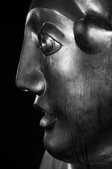 The Barbican Muse (cybertect) Tags: carlzeisssonnart135mmf28 chamberlinpowellandbon cityoflondon ec2 london londonec2 matthewspender modernism sonya7 thebarbican architecture blackwhite blackandwhite building monochrome sculpture