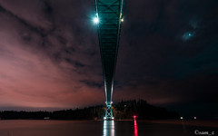 Lions Gate Bridge (samquattro) Tags: vancity vancouver vancitybuzz vancouverisawesome vancouvercapture vancityhype vancitynight nighttime lionsgatebridge