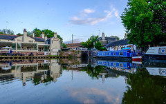 Foxton Locks (Peter Leigh50) Tags: building water reflection reflections trees boat lock pub bridge canal grand union foxton sky cloud fuji xt1 fujifilm hdr