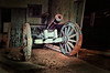 out of the past (Jen_Vee) Tags: barn storage cannon historic history wheels roll sit darkness shed wood iron blue artillery vignette shadows valleyforge knox vintage parks