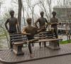 Fab Four  statue in Almaty (Petri Juhana) Tags: statue almaty kazakstan amusement beatles fabfour