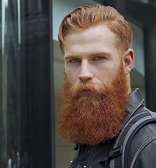 1363 (rrttrrtt555) Tags: hair hairy beard red leather backpack eyes stare redhead ginger curls jacket masculine