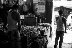 Leaving the Vegetable Market (anthonypond) Tags: 50mmsummilux kolkata bw leicam10 calcutta india
