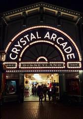 Crystal Arcade. (thnewblack) Tags: lg v30 android outdoors smartphone disneyland california crystalarcade aicam lowlight night snapseed 16mp f16