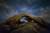 Ancient Art! (Mohanram Sathyanarayanan) Tags: desert milkyway stars galaxy arch joshua nationalpark jtnp california summer hot night colorful rockformations longexposure nps camping