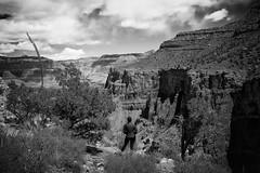 Inspired By Nature (dorameulman) Tags: dorameulman arizona thegrandcanyon hike hiker people inspiration landscape landscapephotography monochrome blackandwhite haiku canon7dmark11 canon thebrightangeltrail