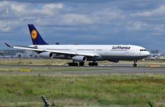 Lufthansa Airbus A340-300 D-AIGS (Planes Spotter And Aviation Photography By DoubleD) Tags: airbus a340 a340300 airline lufthansa germany city francfort fra eddf liner long haul widebody winglets four engines cfm cfm56 take off spotters spotting canon eos aviation air aero aerial aeronautic