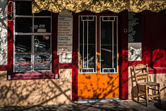 DSC_4879-Edit (Chris Vasileias Photography) Tags: traditional samos ano vathi greece siesta closed noon coffeeshop window reflection cats