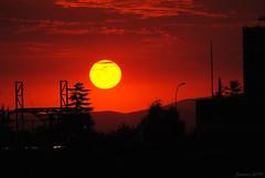 The sky of Santiago during the big fires of Valparaíso in 2014 (Javiera C) Tags: santiago chile sky redsky red fire sun sol cielo cielorojo incendio valparaiso ciudad city contraluz backlightning silhouette silueta horizon horizonte bigsun sunset atardecer