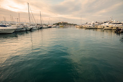 Superyacht city...... (Dafydd Penguin) Tags: superyacht yacht yachting powerboat boat vessel marina harbour harbor port dock quay moorings harboursdie waterside sea antibes cote dazur southern france sunset evening light leica m10 elmarit 21mm f28