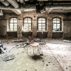 The Chair   Beelitz-Heilstätten, Germany (Chris Feichtner) Tags: iphonephotography shotoniphonex abandonedplace lostplace urbanexploration urbex