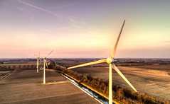 Big fans. (Alex-de-Haas) Tags: oogvoornoordholland dji dutch fc6310 holland nederland nederlands netherlands noordholland aerial aerialphotography air boerenland drone energie energy farmland landscape landschaft landschap lucht meadows skies sky sundown sunset weilanden wind windmill windturbine windmolen winter zonsondergang oudkarspel nl