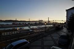. (*F~) Tags: lisbon lisboa portugal river tejo tagus bridge light sunset people humans walking walkers quiet contemplation horizonte
