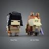 Rose & Jar Jar (LEGO 7) Tags: lego moc brickheadz starwars rose jarjar maul obiwan