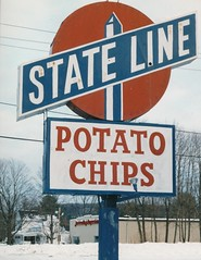 the old State Line Potato Chip sign, gone now (Meredith Jacobson Marciano) Tags: sign chips stateline wilbraham