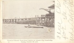 Wreck of Electric Train on October 28, 1906 - Atlantic City, New Jersey (The Cardboard America Archives) Tags: atlanticcity newjersey vintage disaster wreck 1906 cityinruins train