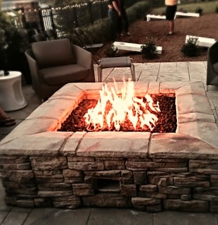 Custom Outdoor Gas Firepit