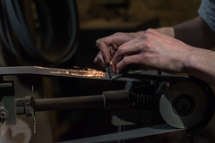 Blade sharpening (Resad Adrian) Tags: blade sharpening bladesmithing shop forge handmade