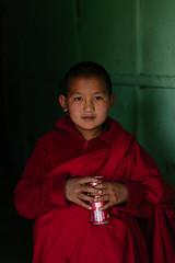 Monk with Coke. (A. adnan) Tags: coke monk bhutan bangladeshi sony a9 thimphu monastery
