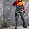 Armeewathose-Bach4268 (Kanalgummi) Tags: sewer worker rubber chest waders wathose gummihose gloves gummihandschuhe hiviz kanalarbeiter égoutier