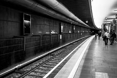 Nydalen T banestasjon (jonarnefoss2013) Tags: fujifilmxt2 blackandwhite metro nydalen