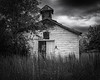 Old country AME chapel (Mike Schaffner) Tags: abandoned ame bw blackwhite blackandwhite chapel church clouds decay decayed derelict deserted dilapidated monochrome old ruins wesleychapel