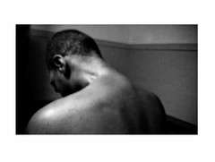 Rey (JasChamPhoto) Tags: man male black back blur monochrome moody