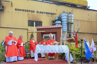 ISD Huta Częstochowa - Zakład Stalownia, coroczne nabożeństwo z okazji Dnia Hutnika. / ISD Steelworks Częstochowa - Steel plant, an annual devotion on the occasion of the steelworker's day.