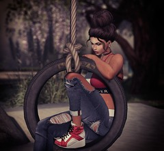 Nobody Knows it But Me.... (Roxi Richez) Tags: portrait swing vale koer summer sad love secondlife addams catwa maitreya session realevil ill