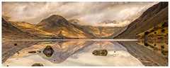 Wastwater Reflecting, Cumbria (urfnick) Tags: outdoor landscape mountains nature reflections mirror cumbria lakedistrict lakes water serene peaceful clouds sky canon eos 1300d rocks stones trees fields misty fog sundaylights
