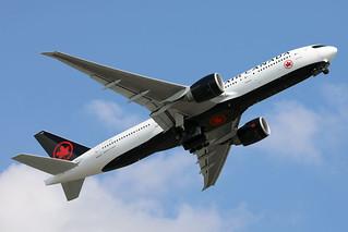 Air Canada B777-200LR C-FIUJ departing HKG/VHHH