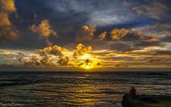 Man and the ocean / Человек и океан (Vladimir Zhdanov) Tags: travel chile polynesia rapanui easterisland ocean sky cloud sun water wave landscape nature people sunset hangaroa